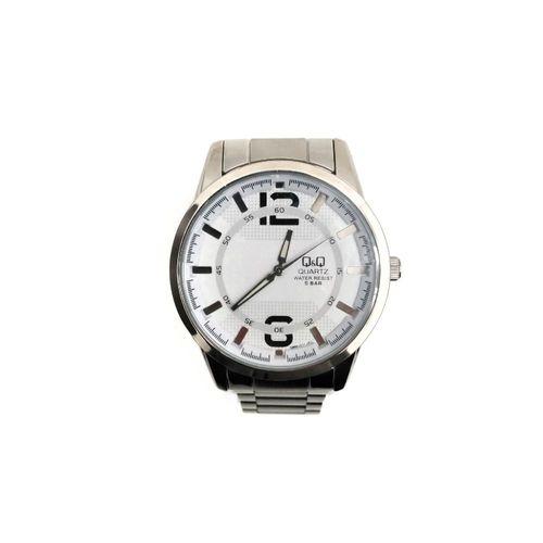 Reloj análogo metálico