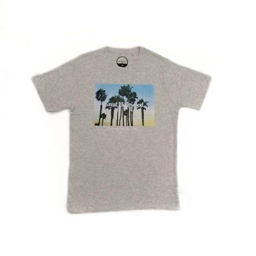 Camiseta Great Hollywood gris claro