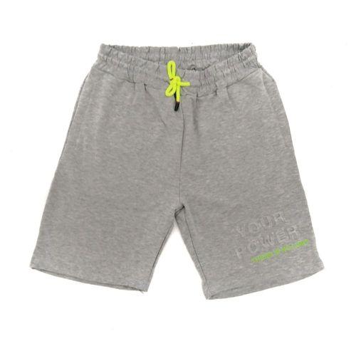 Short deportivo jaspeado gris