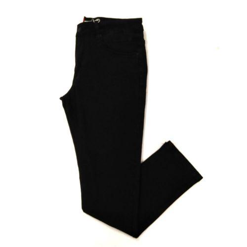Jeans regular negro liso