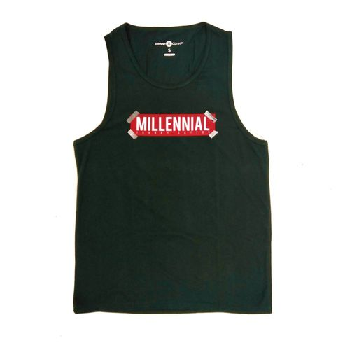 Camiseta Millennial verde oscuro