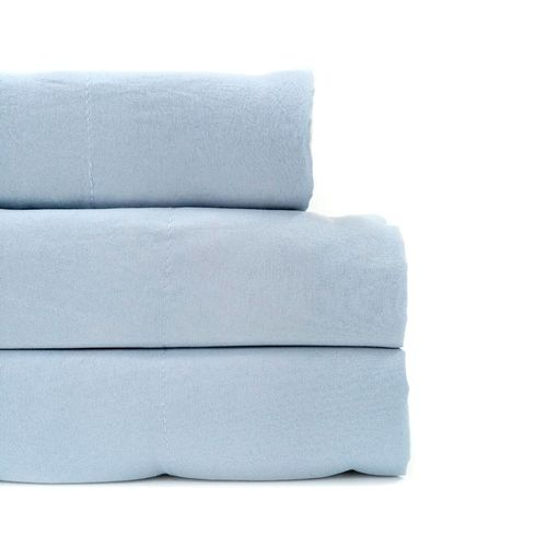 Sábana sólida microfibra maison zoé laundry 4pc azul king