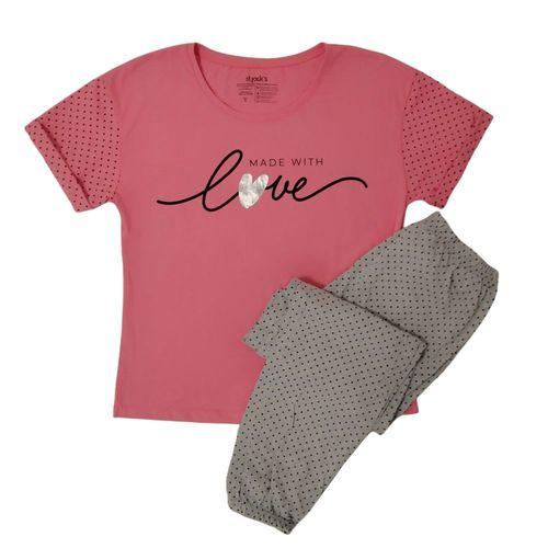 Pijama estampada love
