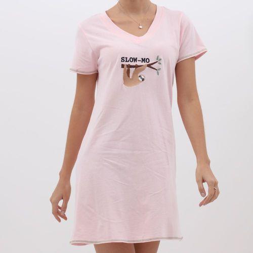 Camisón rosa diseño bordado