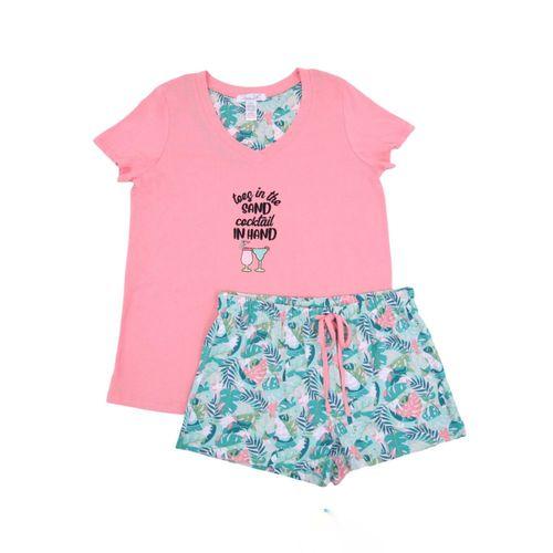 Pijama con short estampada