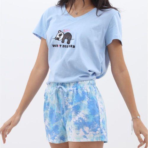 Pijama con short tie dye