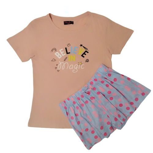 Pijama de short rosa
