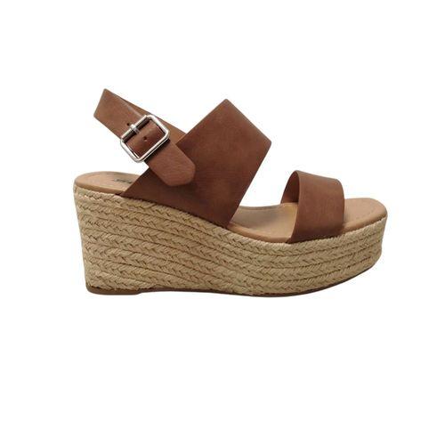 Sandalia de plataforma camel