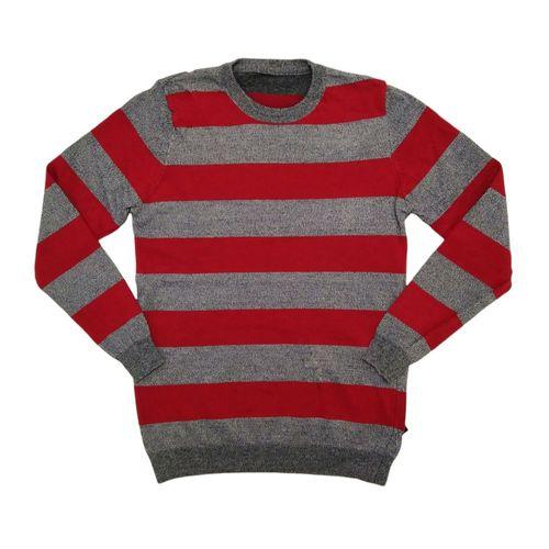 Suéter cuello redondo rayado