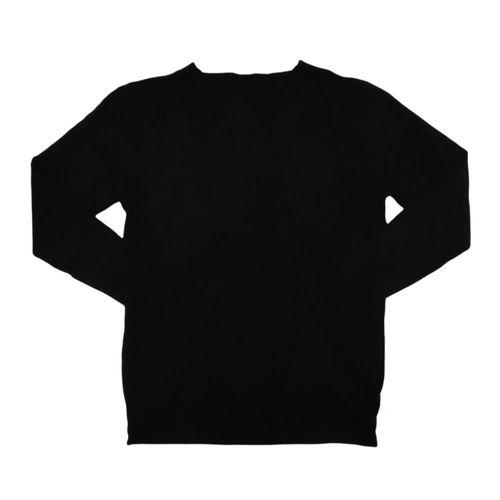 Suéter cuello redondo con relieve