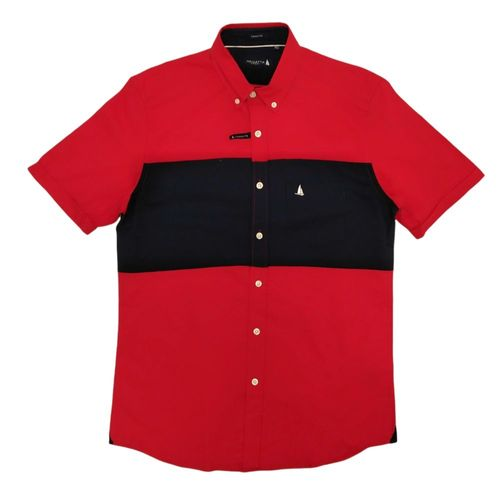 Camisa casual con franja ancha