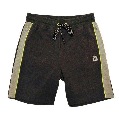 Short deportivo jaspeado gris oscuro