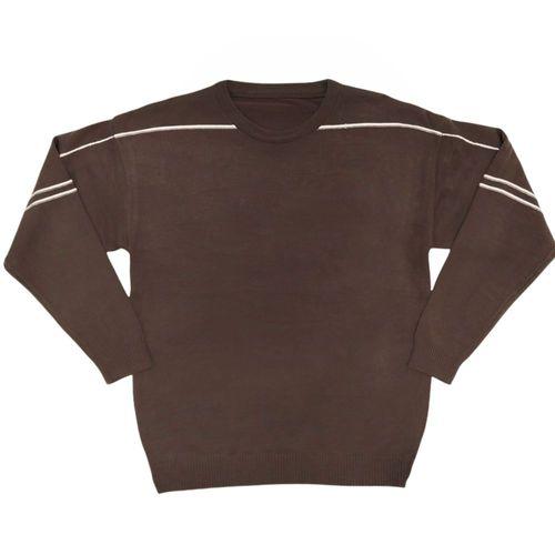 Suéter cuello redondo café