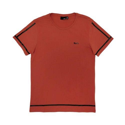 Camiseta cuello redondo sólida