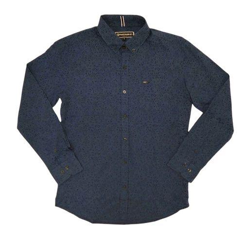 Camisa manga larga gris azulado
