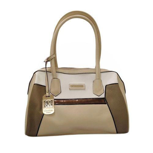 Cartera satchel color blocking