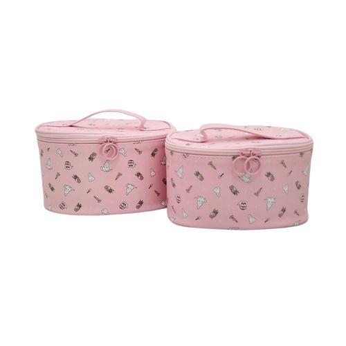 Duo de cosmetiquera rosa