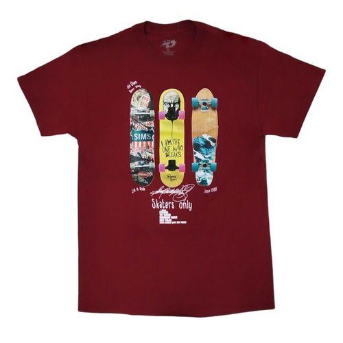 Camiseta estampada patinetas